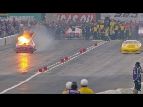 Big explosion for Pro Mod driver Billy Glidden in Indy