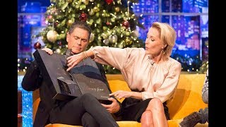 Gillian Anderson promotes Sex Eductation (netflix) on Jonathan Ross Christmas special