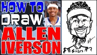 How To Draw A Quick Caricature Allen Iverson
