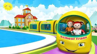 Cartoon School Train - Choo Choo Train Toy Factory Cartoon | Trains for Kids