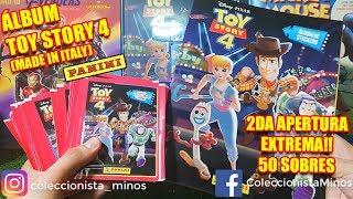 Álbum Toy Story 4 de Panini - 2da Apertura extrema de 50 sobres (Cards y figuras especiales)