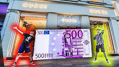 Mit RIESEN 500€ SCHEIN einkaufen GEHEN! **falschgeld**