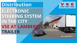 Electronic Trailer Steering in the city - VSE at Lamberet trailer