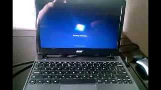 Acer C7 Chromebook running windows 7 (Native)