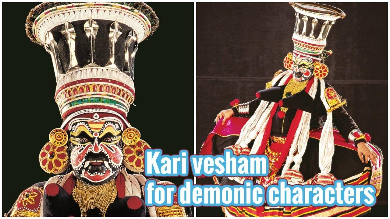 kari vehsam for demonic characters kathakali makeup
