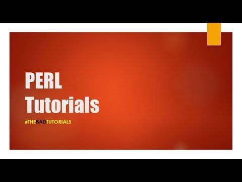 Perl Tutorial - 1: Introduction, Installation, First Script!