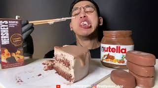 ASMR CHOCOLATE CAKE ICE CREAM …