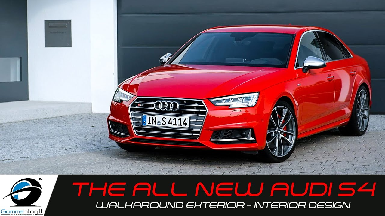 new 2016 audi s4 and s4 avant walkaround exterior. Black Bedroom Furniture Sets. Home Design Ideas