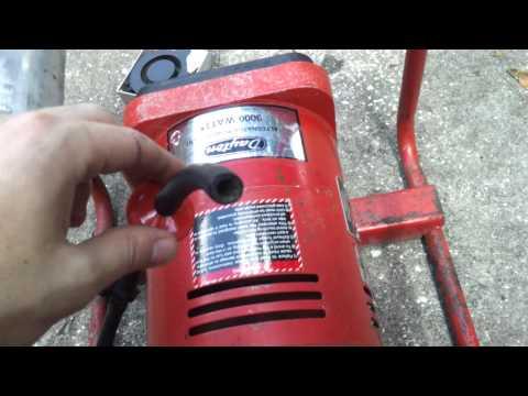 Running a 8hp generator on gasoline vapors 3000w