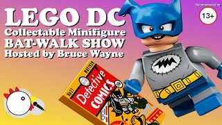 LEGO DC Collectable Minifigure Bat-Walk Show - Hosted by Bruce Wayne -  Stop Motion Video CheepJokes