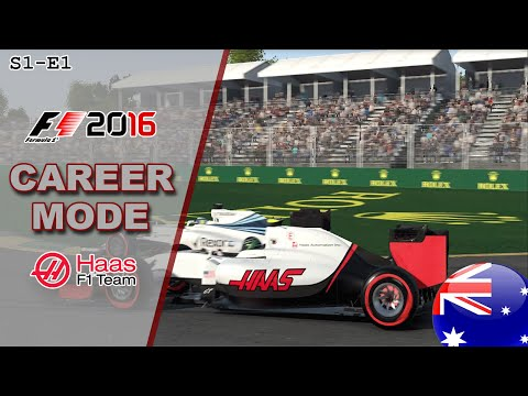 F1 2016 CAREER MODE | A SOLID DEBUT | Part 1 - Australian GP (Haas)