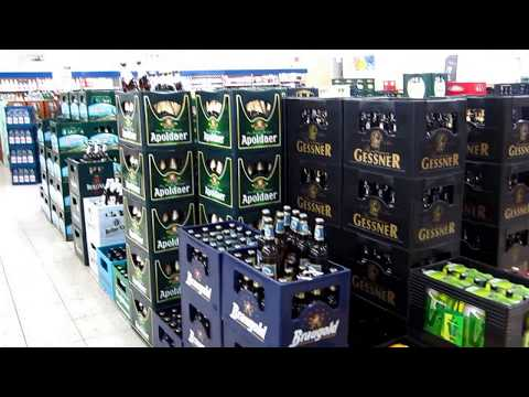 Germany - Beer section in a German Supermarket ドイツ - ドイツのスーパーマーケットでビールセクション