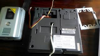 Video DoorPhone Commax Instalation