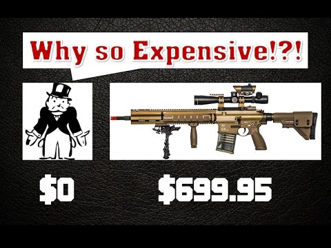 Why are airsoft guns worth over 200 dollars?