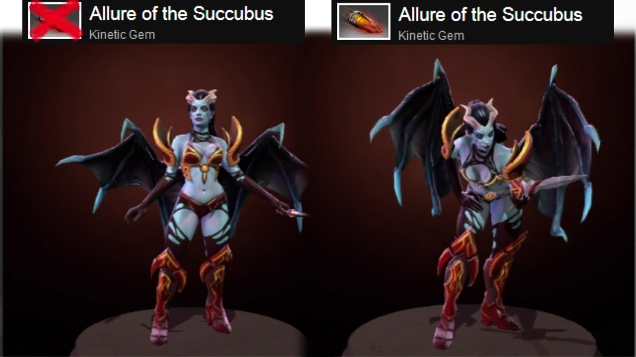 dota 2 queen of pain allure of the succubus kinetic gem preview