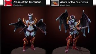 Dota 2 Queen of Pain - Allure of the Succubus kinetic gem preview