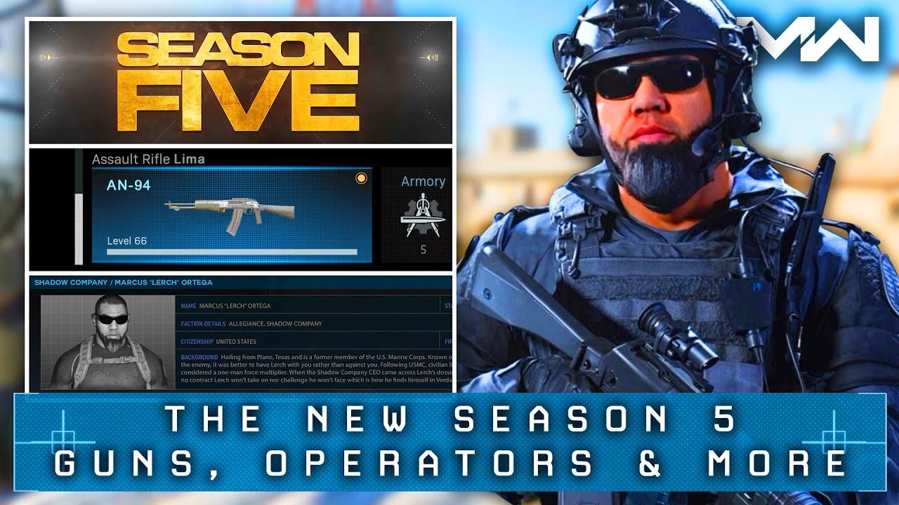 Modern Warfare Season 5 New Operators Weapons Map Revealed