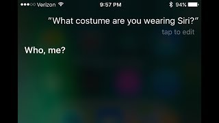 Ask siri what to be for halloween