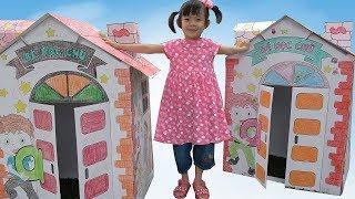 Trò Chơi Xây Nhà Tô Màu Và Học Chữ Cái ❤ AnAn ToysReview TV ❤
