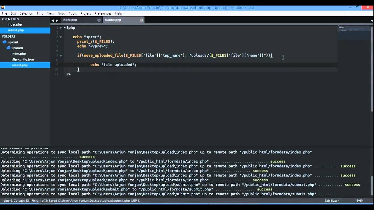 js, php ajax image file upload with FormData, progress event and percent  720p