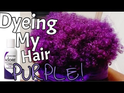 Dyeing My Natural Hair Purple!