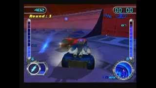 Hot Wheels Velocity X Maximum Justice (PS2) - Combustion Caldera Battle (2)