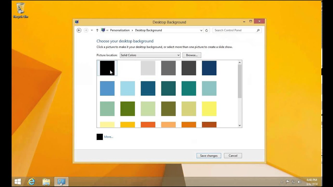 Windows 8 background image location - Windows 8 1 Remove Desktop Background How To Set A Solid Color As Your Desktop Background Youtube