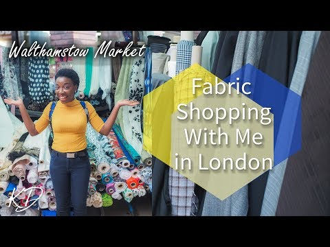 FABRIC SHOPPING WITH ME | WHERE TO FIND CHEAP FABRICS IN LONDON | KIM DAVE