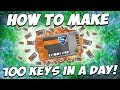 *NEW* HOW TO MAKE *100 KEYS* IN 1 DAY ON ROCKET LEAGUE!! (Best Trading Tactic)