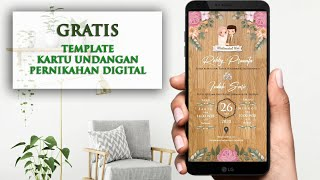 Template Kartu Undangan Pernikahan Digital Gratis Wedding Invitation Digital Template Powerpoint Cute766