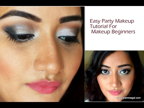 easy party makeup tutorial for beginners  youtube