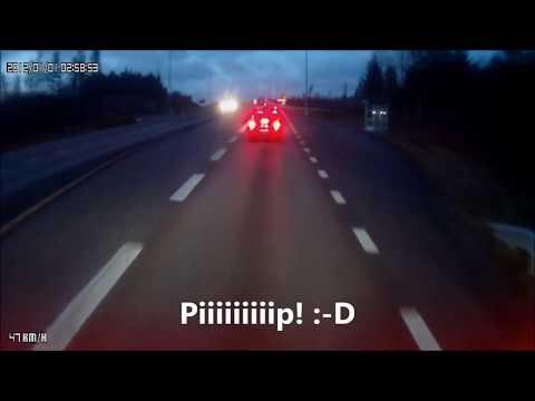 Olyckor och dumheter i trafiken, filmat från långtradarens perspektiv
