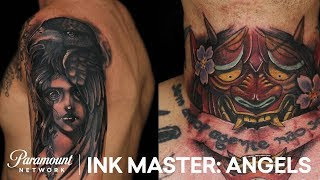 Kelly Doty vs. Jose Rosado: Extended Tattoo Elimination Deliberation | Ink Master: Angels (Season 1)