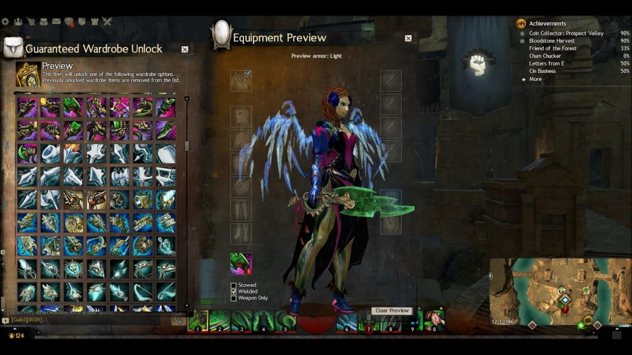 Gw2 Wardrobe Unlocks Pt 6 More Weapon Skins Youtube