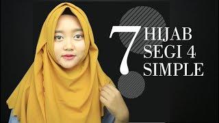 7 TUTORIAL HIJAB SEGI EMPAT SIMPLE CANTIK