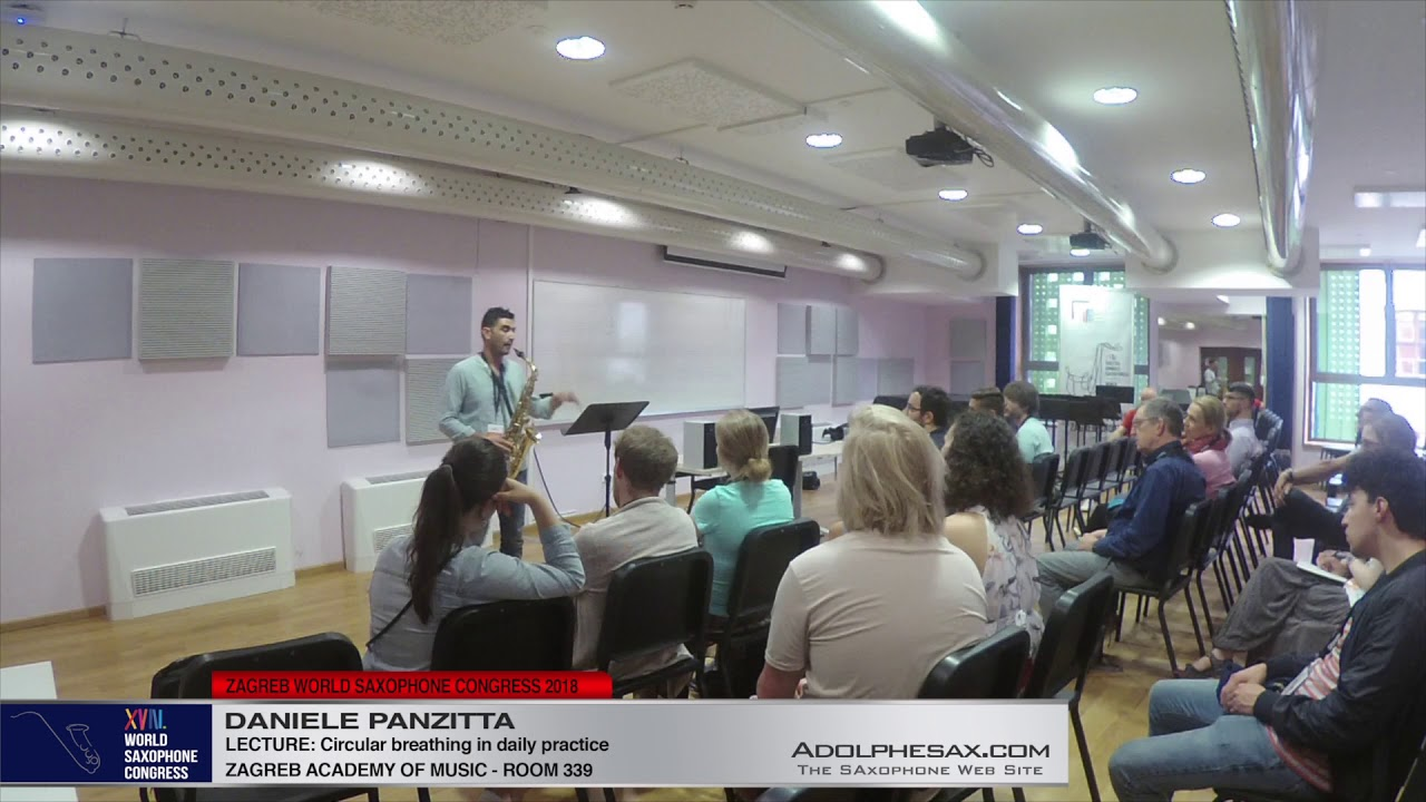 LECTURE: Circular breathing in daily practice – Daniele Panzitta   XVIII World Sax Congress 2018 #ad