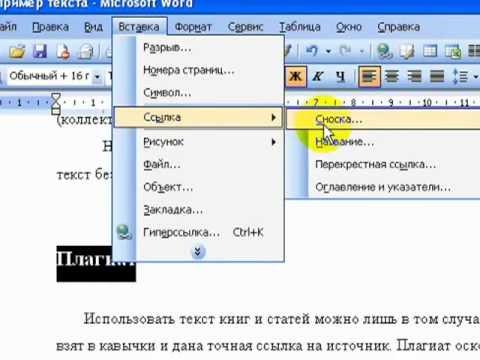 Как сделать ссылку внизу страницы в ворде