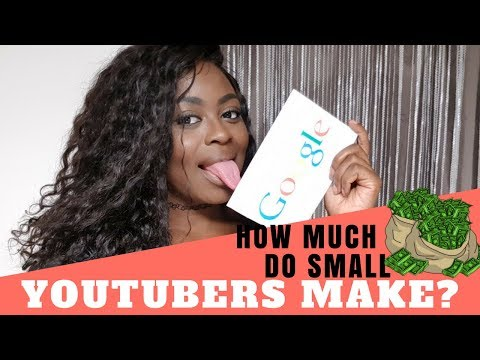 How Much MONEY do Small YOUTUBERS Make ...VERY DETAILED!!