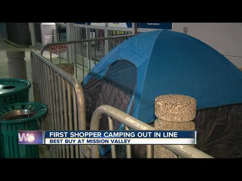 Man camps out days before Black Friday at San Diego Best Buy store