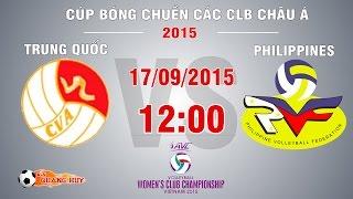 trung quoc vs philippines - cup bong chuyen chau a 2015  full