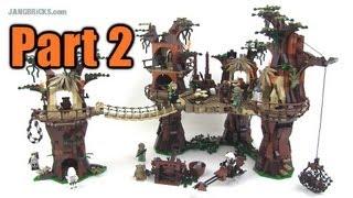 LEGO Star Wars Ewok Village 10236 Set Review: Part 2!