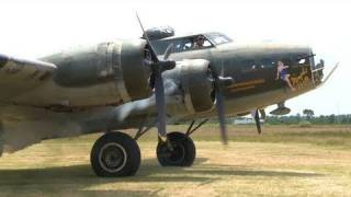 B-17 Flying Fortress - 1 of 12 Flying in 2009 (HD Raw)