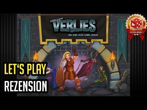 Winziges Verlies / One Deck Dungeon - Let's Play Rezension auf deutsch - Brettspiel im Test