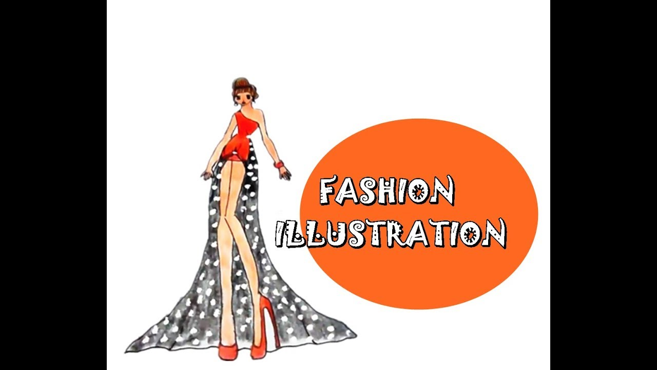 fashion sexy party drees sketch models how to draw