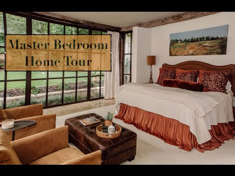 Master Bedroom - Historical Spanish Colonial Revival Home Tour