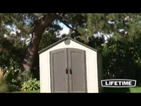 anchoring a storage building lifetime 6405 8 by 10 foot outdoor storage shed window skylights