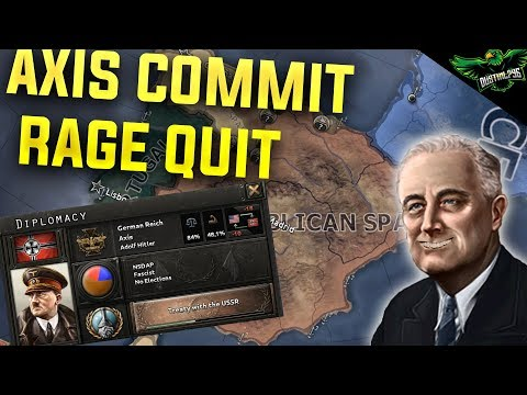 HOI4 Multiplayer EP 1 - Axis Rage Quit (Hearts of Iron 4 Man the