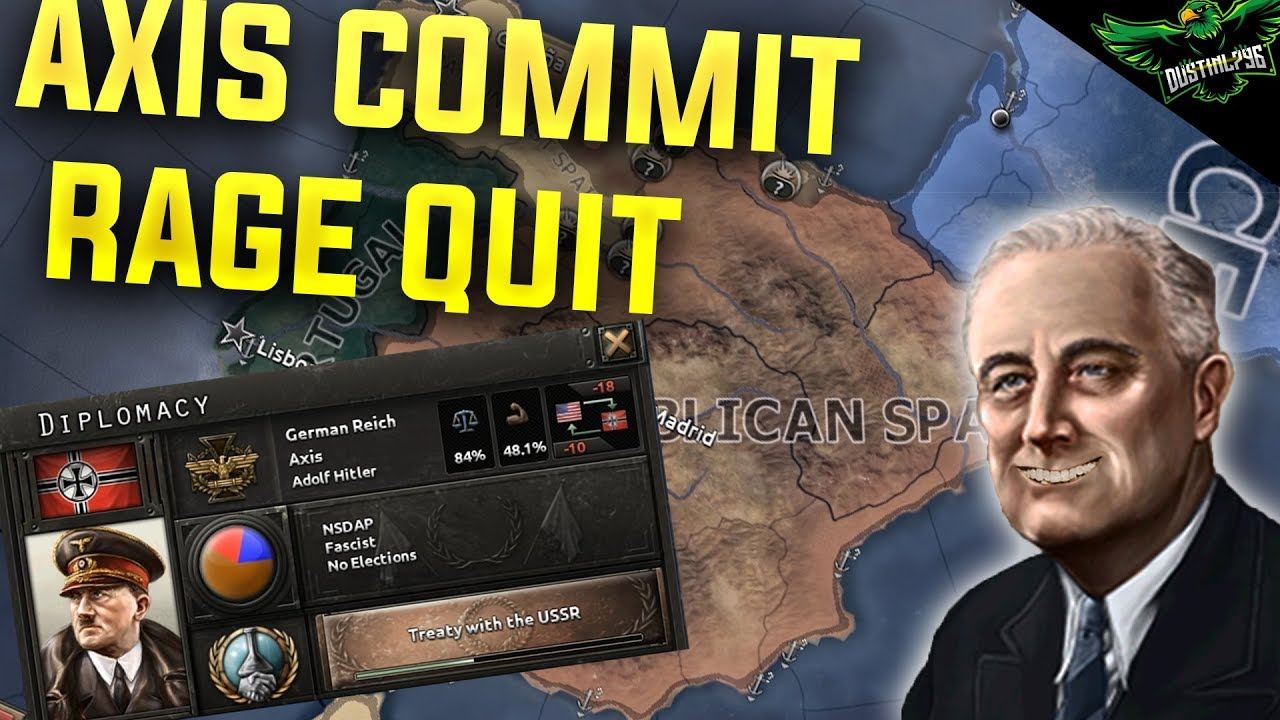 HOI4 Multiplayer EP 1 - Axis Rage Quit (Hearts of Iron 4 Man the Guns  Multiplayer)