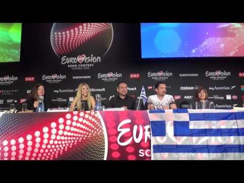 ESCKAZ in Vienna:  Press conference with Maria Elena Kyriakou (Greece)