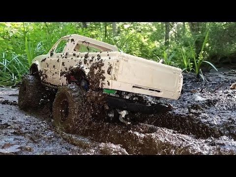 RC Mud Bogging!--4x4 RC Truck Mudding And Winching! RCFRENZY